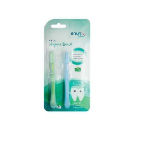 Kit de Higiene Bucal com 2 peças com limitador Sana