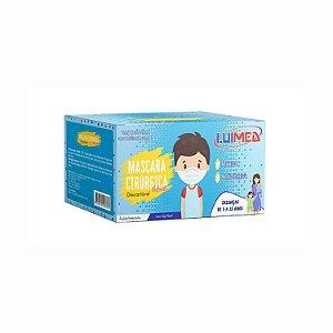 Máscara Descartável Infantil Azul Luimed (50 unidades)