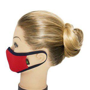 Máscara Vermelha com Marinho - Tamanho Kids