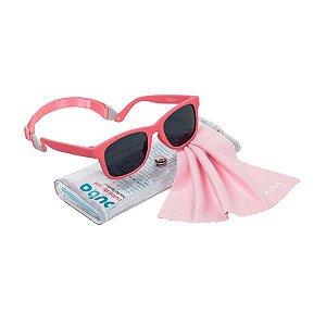 Óculos de Sol Baby Rosa com alça Ajustável Buba