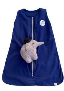 Saco de Dormir Bebê Malha Azul Bic :