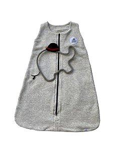 Saco de Dormir Bebê Moletom Mescla :