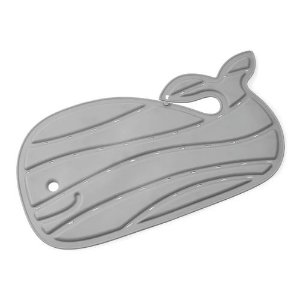 Tapete de Banho Baleia Moby Antiderrapante Cinza Skip Hop