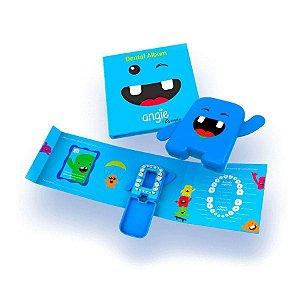 Álbum Dental com Porta Dentinhos Azul
