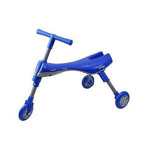 Triciclo Infantil Dobrável (Azul/Cinza)