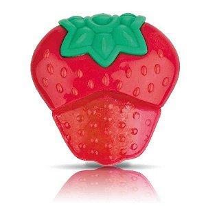 Mordedor Fruta com Gel Morango Nuby