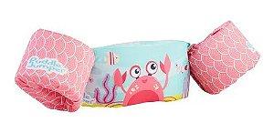 Colete Salva Vidas Pink Crab com Bóia Caranguejo Rosa