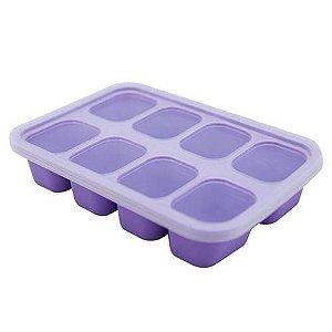 Forminha para papinhas em silicone Baleia (8 cubos)