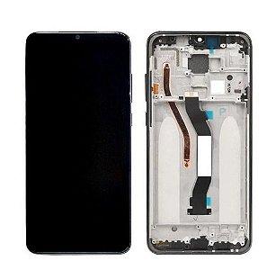 GABINETE FRONTAL DISPLAY LCD MODULO COMPLETO XIAOMI REDMI NOTE 8 PRO PRETO (ORIGINAL CHINA COM ARO)