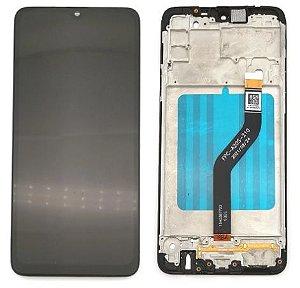 GABINETE FRONTAL DISPLAY LCD MODULO COMPLETO SAMSUNG A207 GALAXY A20S PRETO 1ªLINHA COM ARO