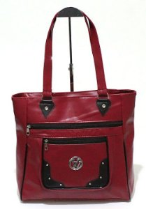 Bolsa Feminina Vermelha Atacado 07-1