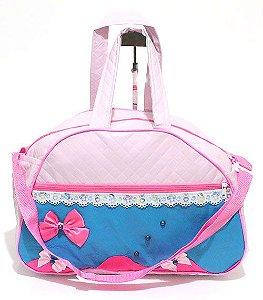 Bolsa Infantil Grande Rosa com Azul Atacado 35-1