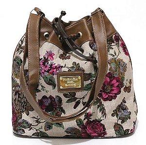 Bolsa Saco Floral Pequena Atacado 22-6