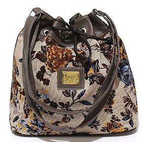Bolsa Saco Floral Pequena Atacado 22-9