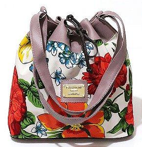 Bolsa Saco Floral Pequena Atacado 22-34