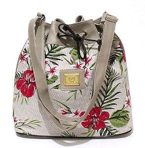 Bolsa Saco Floral Pequena Atacado 22-4