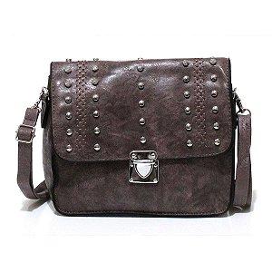 Bolsa Transversal Pequena com Tachas Atacado S9823-8