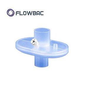 Filtro Barreira Bacterial e Viral Eletrostático Hidrofóbico c/ conexão reta, Estéril, FLOWBAC, unidade