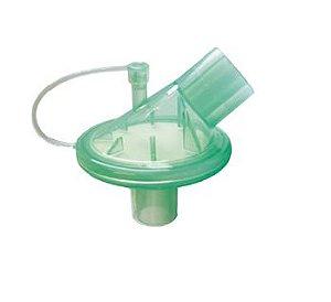 Filtro Barreira Bacterial e Viral Eletrostático Hidrofóbico c/ conexão Angular, Estéril