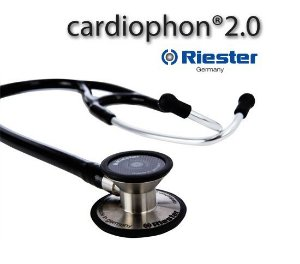 Estetoscópio Cardiológico Cardiophon 2.0, Riester, em aço inox, Cores