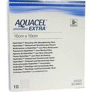 Curativo Aquacel EXTRA, Estéril, Convatec, envelope com 01 unidade