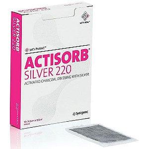 Curativo de Carvão Ativado e Prata, Actisorb Silver 220, unidade