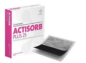 Curativo Antimicrobiano de Carvão ativado c/ Prata, Actisorb Plus 25, unidade