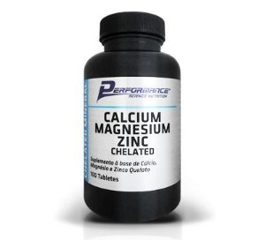 CALCIUM MAGNESIUM ZINC CHELATED - PERFORMANCE 100 TABLETS