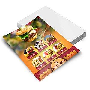 5000 Folhetos - 100x148mm em Couche Brilho 115g - 4x0