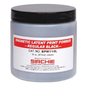 Pó de impressão digital magnético branco indestrutível 16 onças 473 ml
