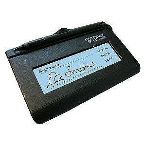 Coletor de assinatura T-S460-HSB-R topaz novo sem uso e sem a corrente que segura a caneta sem a caixa.