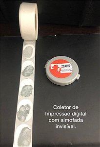 Almofada\coletor de impressão digital sem a nescessidade de tinta redonda com 4cm