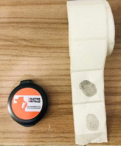 Coletor de Impressão Digital modelo 5888  Redondo Para 500 coletas.