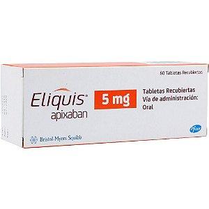 Eliquis 5mg Com 60 Comprimidos (Apixabana)