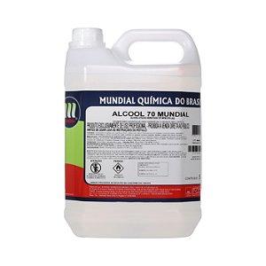 Álcool Líquido  70% Mundial - 5 L