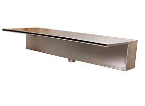 Cascata de piscina em Aço Inox AISI 316- Embutir Lâmina Longa- 130cm