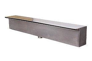 Cascata de piscina em inox- Embutir Lâmina Curta- 80cm