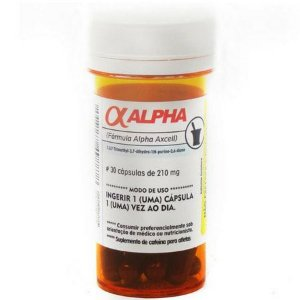 Alpha Axcell Cafeína - (30caps) - Power Supplements
