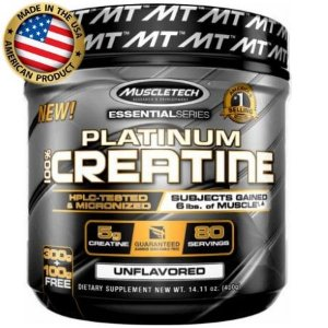 Platinum 100% Creatina Micronized - (400g) - MuscleTech