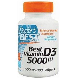 Best Vitamin D3 5.000 IU - (180caps) - Doctor's Best