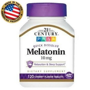 Melatonina 10 mg - (120 caps) - 21st Century