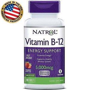 Vitamina B12 - 5000mcg - (100 tabs) - Natrol