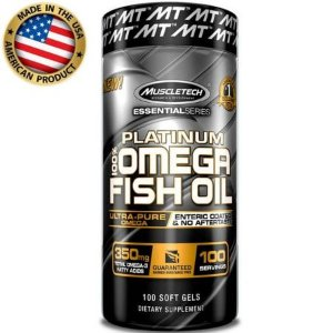 100% Platinum Omega Fish Oil - (100 caps) - Muscletech