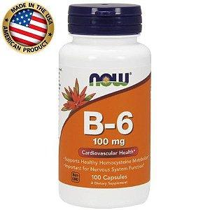 Vitamina B6 - 100mg - (100 caps) - Now Sports