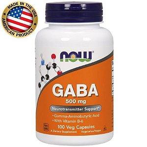 Gaba - (100 caps) - 500mg - Now Sports
