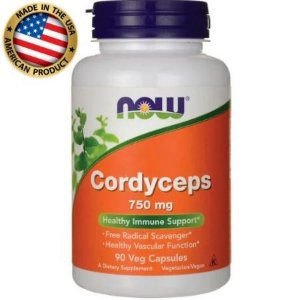 Cordyceps Antioxidante - (750mg) - (90 caps) - Now Foods