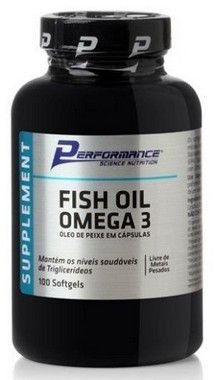Fish Oil Omega 3 1000mg - (100 cápsulas) - Performance Nutrition