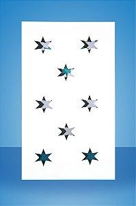 Base de MDF branco estrela.