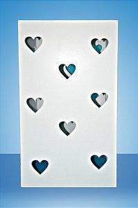 Base de MDF branca coração.