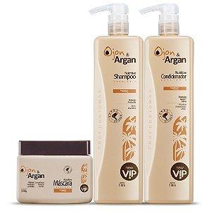 Kit Lavatório Vip Argan Nutritive - Shampoo 1 Lt + Condicionador 1 Lt + Mascara 500gr
